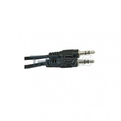 Audiokaapeli 3.5mm plugi 0.5 metriä