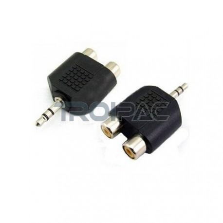 Aioni audio adapteri rca naaras 3.5mm uros