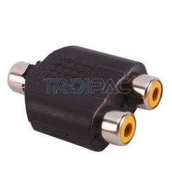 Aioni audio adapteri rca naaras / 2 x rca naaras