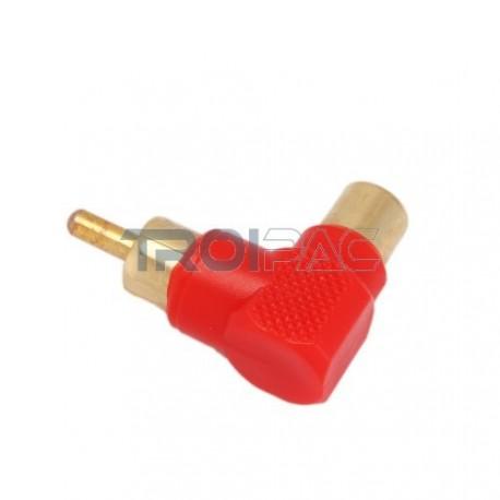 Aioni audio adapteri kulma rca naaras rca uros punainen